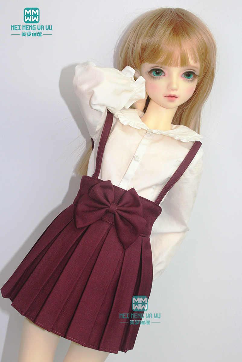 BJD аксессуары кукла одежда девушка платье подходит 60 см 1/3 BJD кукла модное с лямками плиссированная юбка Студенческая одежда
