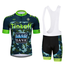 Factory Direct Sales! SaxoBank Tinkoff Cycling Jerseys Suit Mtb Cycling Clothing Quick Dry Cycling Breathable Cycling Sportswear cheap 100 Polyester Jersey Sets Short Sleeve 80 Polyester and 20 Stretch Spandex Full GEL Breathable Pad Summer Fits smaller than usual Please check this store s sizing info