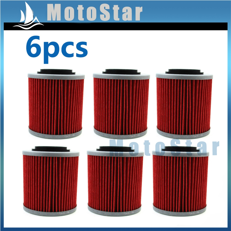 6X Oil Filters For CAN-AM RENEGADE 850 570 1000 OUTLANDER MAX DEFENDER MAVERICK