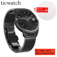 Ticwatch 2 Smart Watch Bluetooth 4.1 MT2601 GPS Heart Rate Monitor Smartwatch for iOS / Android Free Gift Steel protection film