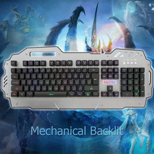 Wired USB Mechanical Gaming Keyboard LED Backlit QWETY Gamer backlight Keyboard 104 Key For LOL Tablet Mini PC With Colorful