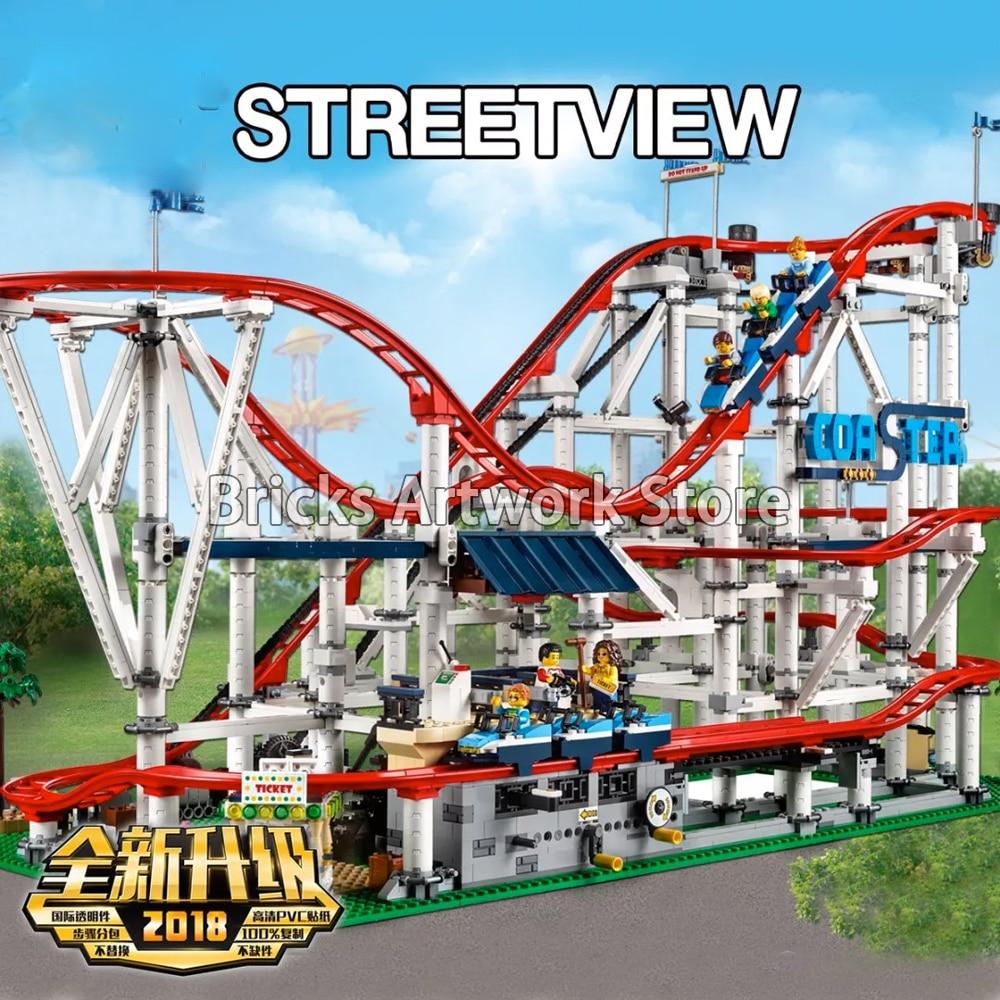 4124pcs Lepine 15039 Roller Coaster Mini Figures Pack Minifigs Compatible Legoe Expert Creator 10261 Model Building Blocks Toy lepine model