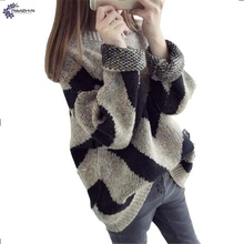 TNLNZHYN NEW Women clothing warm sweater 2017 autumn fashion loose large size long-sleeved leisure female Hedging sweater QQ256