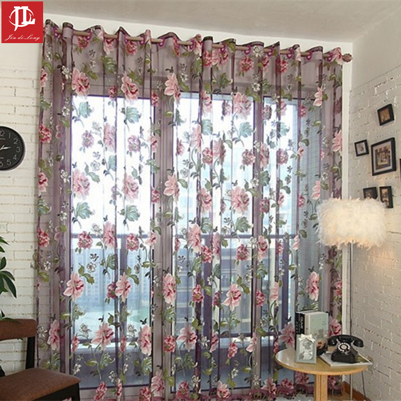 Beautiful (1 PC Cloth Curtain And 1 PC Tulle)Luxury Stylish Windows Curtain Gray  Stripe