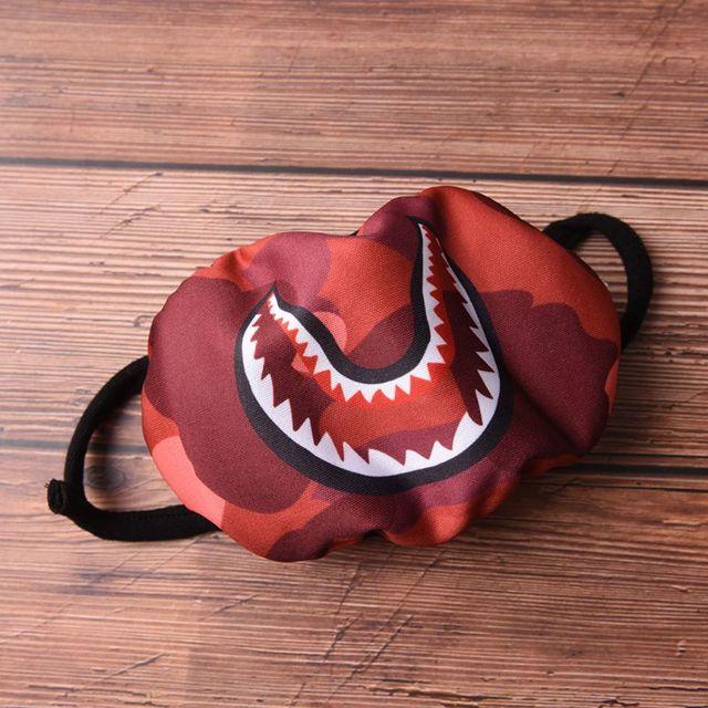 Women Men Unisex Hip Hop Trendy Half Face Mouth Mask Shark Colorful Camouflage Earloop Elastic Anti-Dust Kpop Muffle Protective 2