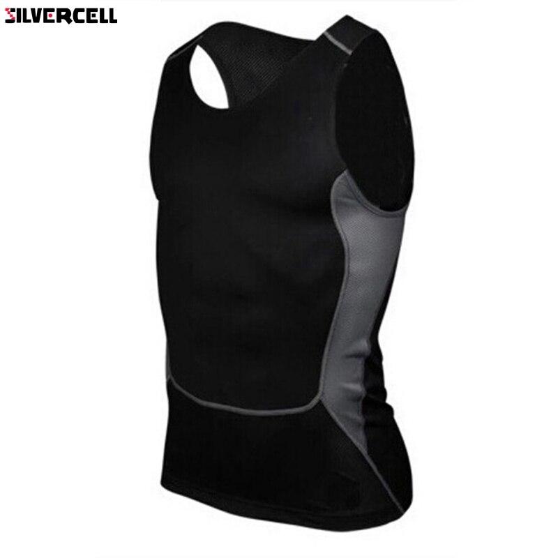 Men Compression Tight Tee Shirts Base Layer Fitness Workout Vest   Top   Plus Sizes S-XXXL