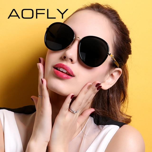 Aofly moda original de la marca de gafas de sol mujeres grandes gafas de marco gafas de sol polarizadas shades new summer style gafas de sol mujer af7932