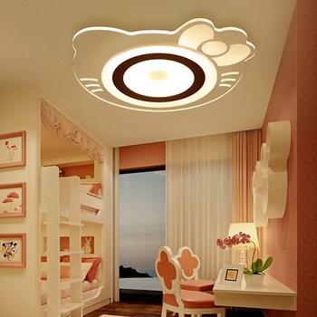 2019 Luminária Abajur Teto da Sala de Montagem de Controle Remoto das Crianças Ou Comutador Com Para Boby Hellokitty Acrílico Luzes No
