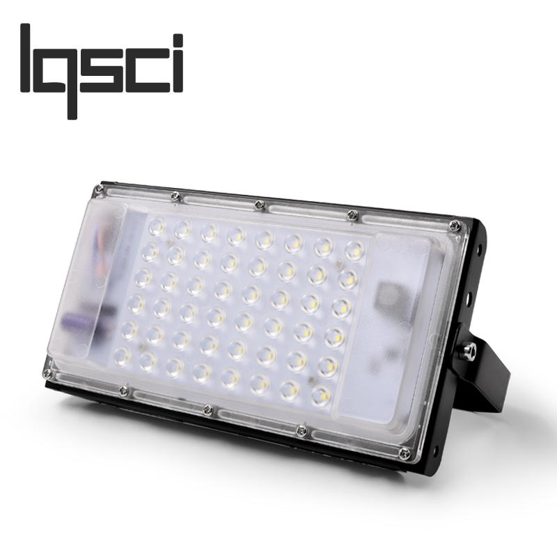 LQSCI 50W  12V-60V / 220V perfect power LED Flood Light Floodlight LED street Lamp waterproof Landscape Lighting