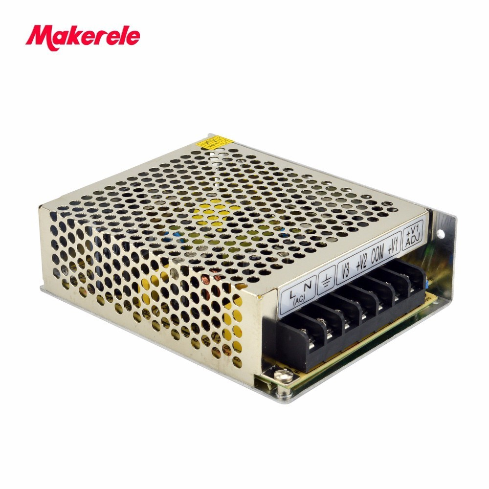 Free Shipping triple output enclosed Triple Output  Switching Power Supply NET-50A 5V 12V -5V 50W from china factory