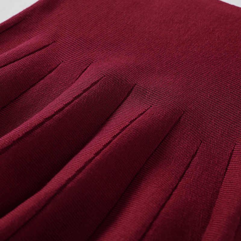 Sherhure 2019, Женская Весенняя трикотажная Мини-юбка с высокой талией, стрейчевая женская черная плиссированная юбка трапециевидной формы, Faldas Jupe Femme Saia