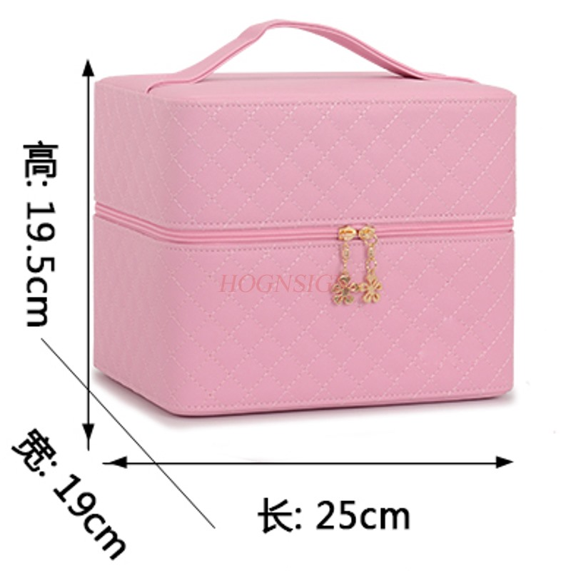 Cosmetic Bag Large Capacity New Small Cute Square Storage Box Simple Portable Multi-layer Cosmetics Case Makeup Package Cosmetic Bag Large Capacity New Small Cute Square Storage Box Simple Portable Multi-layer Cosmetics Case Makeup Package