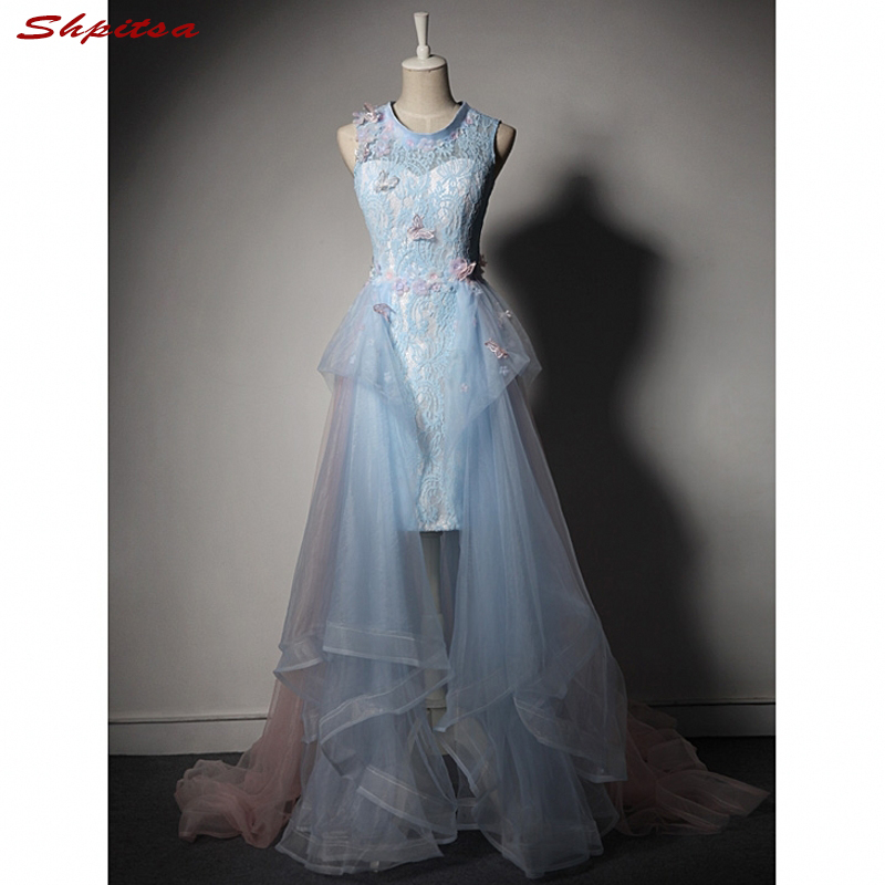 Lace Prom Dresses Long Women Formal Evening Dress for Graduation vestido formatura longo