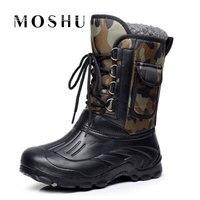 Homens grife Inverno botas Masculinas botas de Neve Fur Ankle Boots Combate Militar Do Exército À Prova D' Água de Chuva Shoes Chaussure Homme