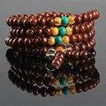 Ubeauty envío gratis natural línea de plata 6mm 108 semillas bodhi cuentas de oración pulsera para la meditación Budista Tibetana collar