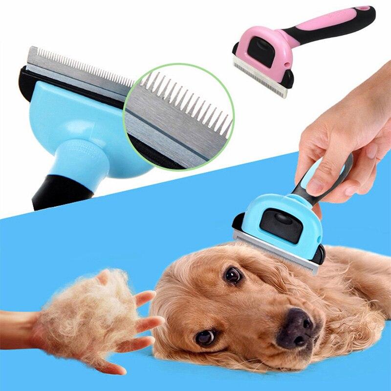 Pet Уход за лошадьми инструмент собака кошка удаления волос Расческа Съемная выпадение волос обрезки Remover Инструменты
