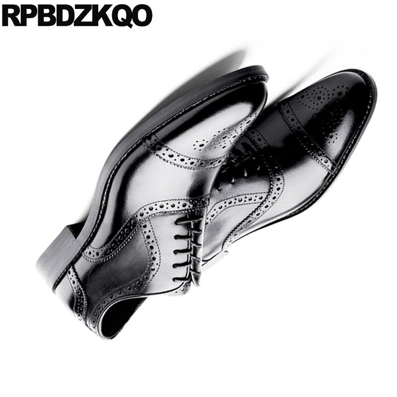 Italiano Vestido Zapatos Dedo Formal Puntiagudo Negro Personalizado Del Británico Mano Negro A marrón Europeo Oxford Tamaño 46 De Plus Pie Los Oxfords Hecho Italia Hombres 11 Estilo qwTtZ8Cp