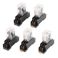 5 X AC 110 120V Coil DPDT 2no 2nc 8 Pin Red LED Power Relay W