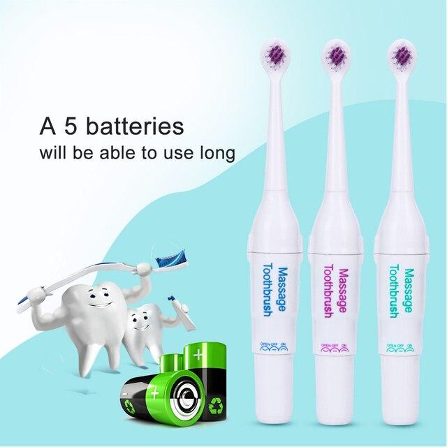 AZDENT Profesional cepillo de Dientes Eléctrico con 3 unid Diferente Tipo  Cabeza de Repuesto Batería Dental acc5af1b6a28