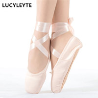 2015 New Top Fashion On Sale High Quality Ladies Professional Ballet Pointe Dance Shoes With Ribbons