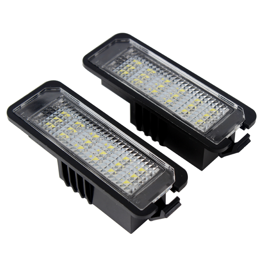 Car Styling Super Bright Passat Polo For VW Scirocco For Porsche SMD 3528 LED Car License Plate Lights 6000K Golf 4 5 6 GTI 1 pair no error white led license plate light lamp for vw volkswagen cc golf 4 5 6 gti r32 eos rabbit scirocco 987 997 958