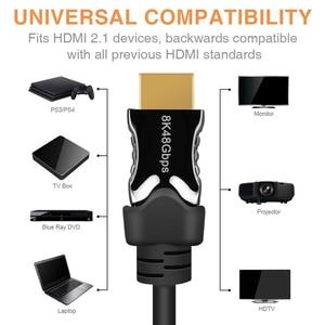 Image 2 - Navceker HDMI 2,1 Kabel 8K/60Hz 4K/120Hz 48Gbps HDCP 2,2 HDMI Kabel kabel für PS4 Splitter Schalter Audio Video Kabel 8K HDMI 2,1