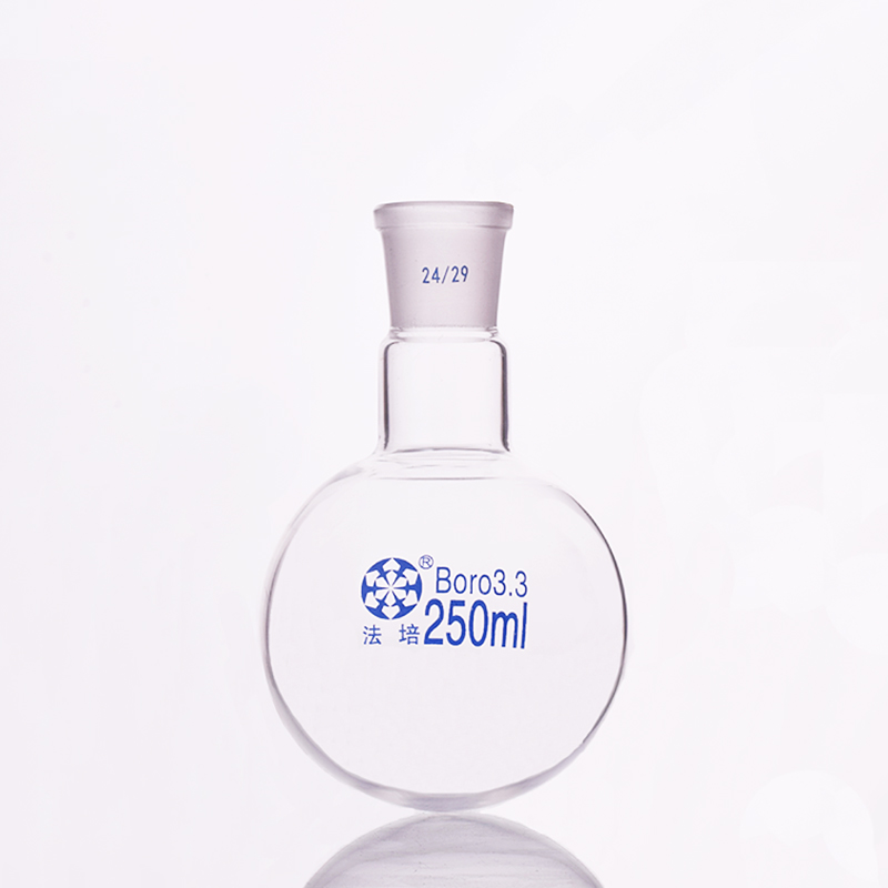 Single Standard Mouth Round-bottomed Flask,Capacity 250ml And Joint 24/29,Single Neck Round Flask