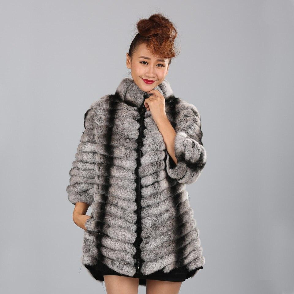 MPPM Luxe Rex Manteau De Fourrure De Lapin Femme naturel Véritable Peau De Fourrure De Lapin Rex Manteau De Fourrure Russe Fourrure Outwear