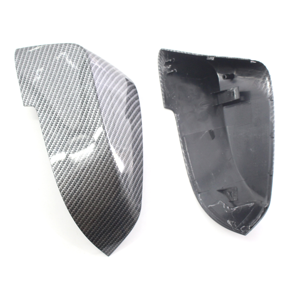 Carbon Fiber Pattern Car Mirror Cover Caps for <font><b>BMW</b></font> F10 <font><b>F11</b></font> 520 523 535 530 2014-2017 LCI image