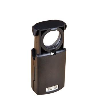 Lupa obiektywu składane oko lupa szkło powiększające z oświetleniem LED na zegarek biżuteryjny narzędzia do naprawy przenośne tanie i dobre opinie Inpelanyu Handheld JJ2761 Led light Other 30x21mm Eye Loupe Jewelry and Watch Tool Black 3x LR1130