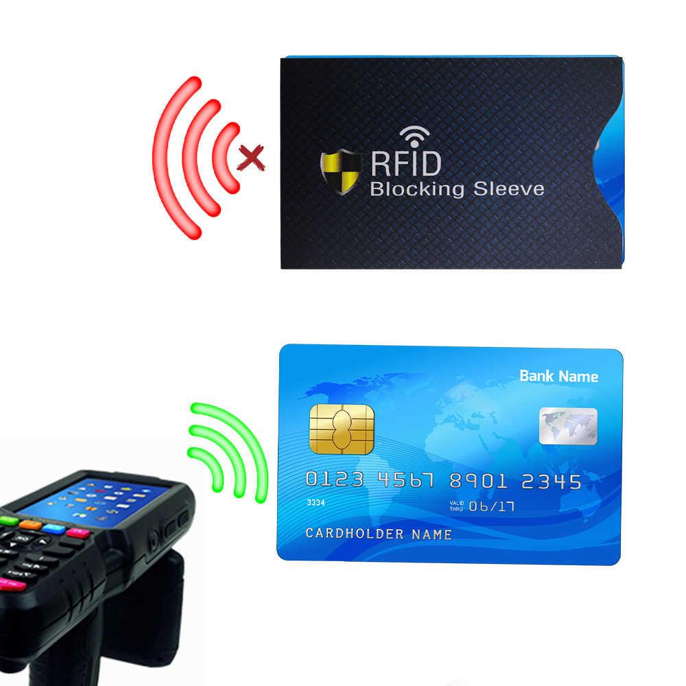 12 шт кредитная карта, RFID держатель рукав защитный щит Smart Fit бумажник мужской, Женский Anti Theft защиту сети Вес 3g синий