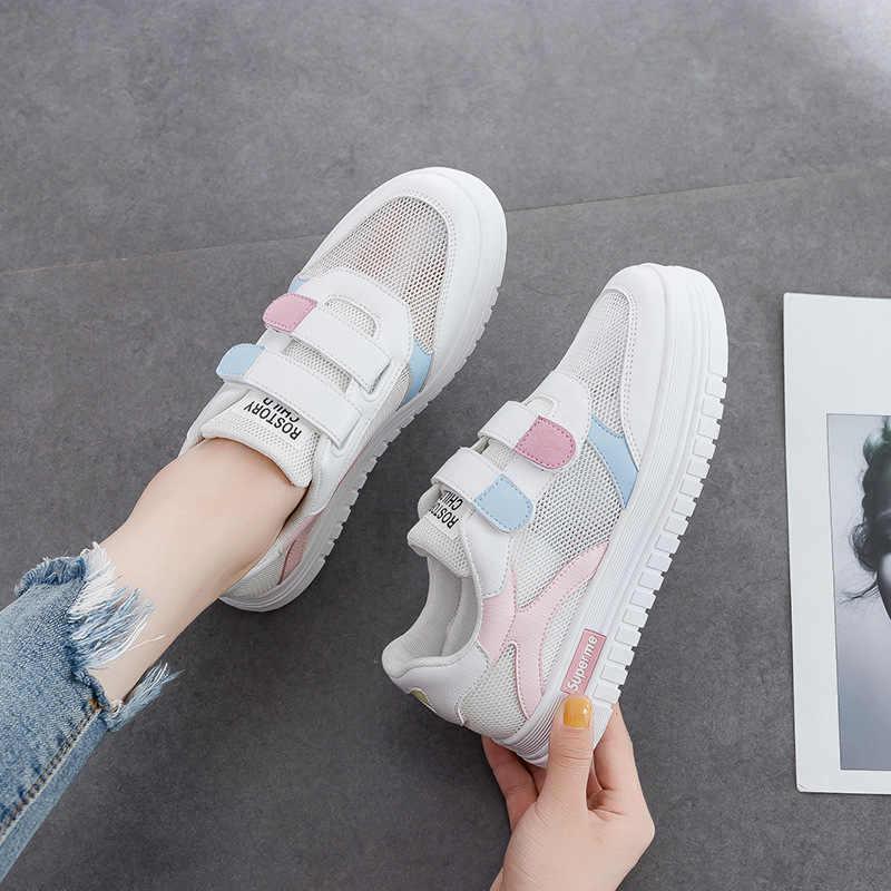 אוויר חדיר קטן לבן נעלי גרסה קוריאנית של Baitie students'sneakers בקיץ כדי להגדיל נעליים יומיומיות נשים של נטו נעליים
