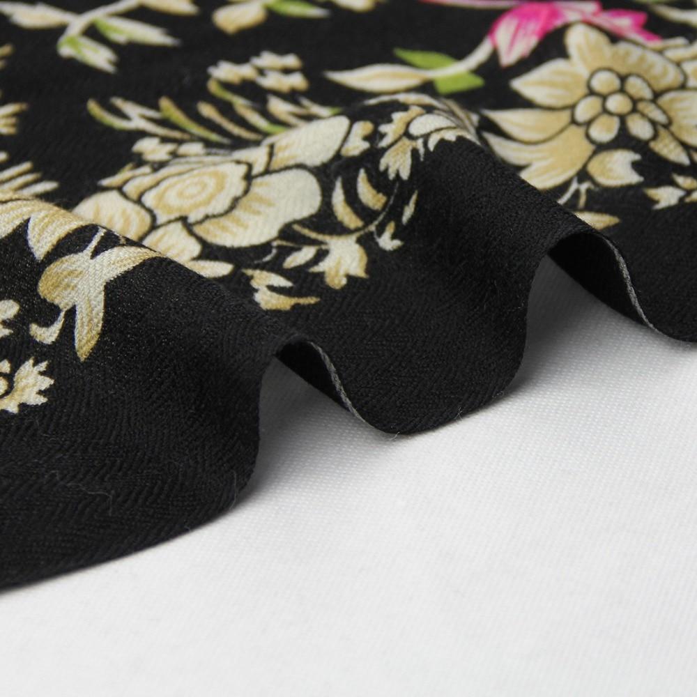 100% Wool Poncho Head Scarves Women Elegant Lady Carf And Warm Shawl Long Animal Print Stoles Bandana Scarf Hijab Luxury Brand