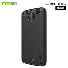 MOFi For Motorola Moto C Plus Case Cover Shockproof Carbon Fiber Soft TPU Anti-Knock Cover Cases For Moto C Plus Capa Coque аккумулятор для телефона ibatt hc60 для motorola moto c plus xt1723 moto c plus dual sim