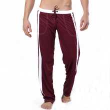 Men's Sleeping Trousers Pajamas Pants Casual Homewear Loose Drawstring Lounge Sleep Bottoms Casual Househeld Clothes Homewear