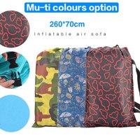 Outdoor Lamzac Portable Air Beach Bed Fast Inflatable Camping Sofa Banana Sleeping Bag Lazy Laybag Air