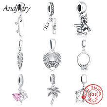 ФОТО 2018 newest fit pandora charms bracelet orignal beads 925 sterling silver dangle pendant charm beads diy jewelry making berloque