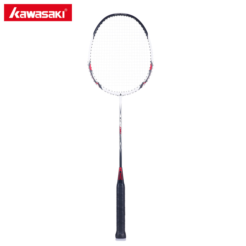 Kawasaki Badminton Racket 1U Carbon Rod Aluminum Alloy Frame Racquet 16~20LBS Tension Rackets For Beginners Junior Player KC-081
