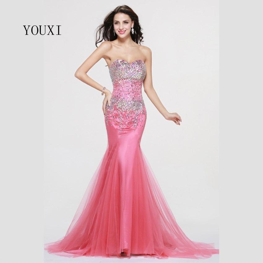 Tienda Online 2017 sparkle cristales rosa Africana Vestidos de baile ...