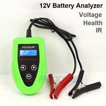 FOXSUR 12V Car battery tester  Auto Battery Analyze Car Charge Diagnostic Tool Gel AGM WET CA SLA Battery CCA IR SOH Scanner