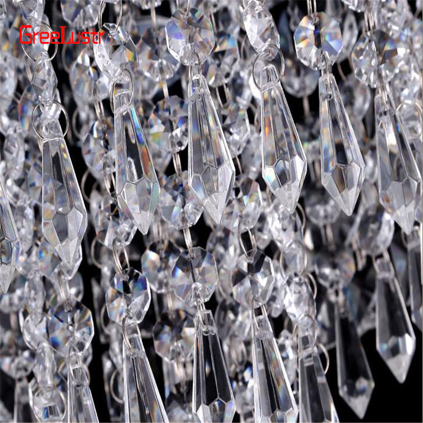 Image 5 - AC110V 240V Led Crystal Chandelier Ceiling Lamp Plafon Lustre For Entrance Kitchen lights Chandeliers Fixtures Home Decor-in Chandeliers from Lights & Lighting