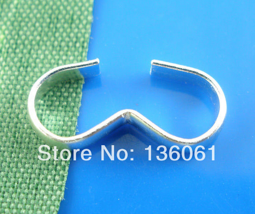 1000pcs Vintage Silver W Crimp Connectors Charms For Jewelry Making Findings Bracelet Crafts Handmade Accessories DIY Gift P1436