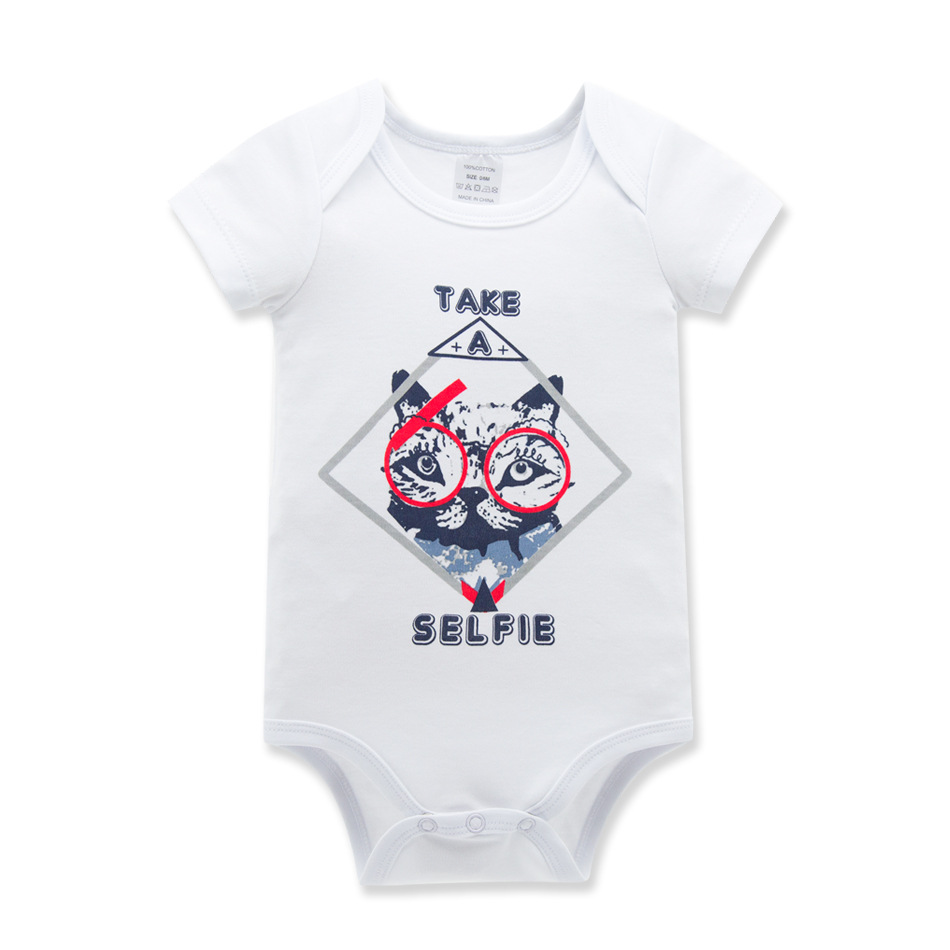 KAVKAS Summer Baby Rompers Cotton Baby Boy Clothes Baby Girl Clothes Print Newborn Baby Clothes Infant Jumpsuits Bebe Rompers