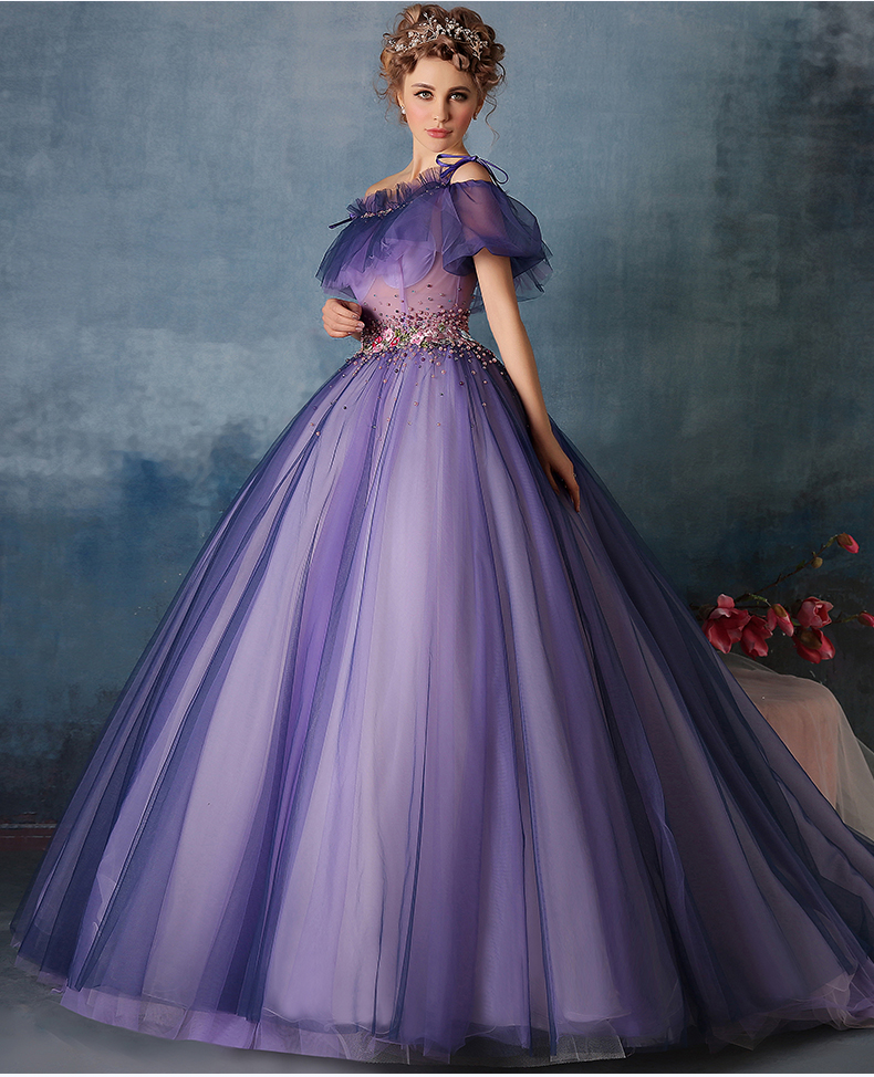 Online Buy Wholesale puffy purple prom dresses from China ...