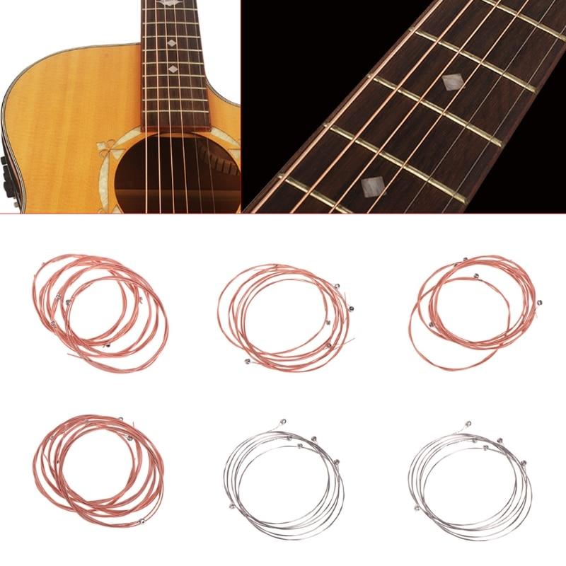 6pcs Guitar String Folk Rhyme Wooden Guitar Chord A203 String Bronze Alloy Nickel Plating Bulk