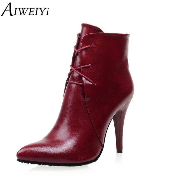 AIWEIYi Moda Tobillo Tacones Altos Atan Para Arriba Zapatos Mujer Bombas de  la Plataforma de Las 430f41c73fda