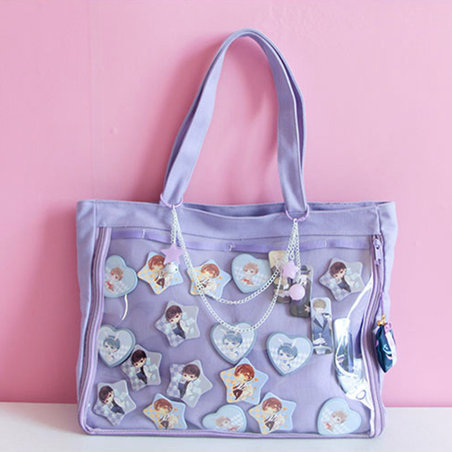 Ita Bag girls lolita Style lovely handbag kawaii clear bag Schoolbags For  Teenage Girls Candy Sweet itabag Shoulder bags H252 8c1e94bf84