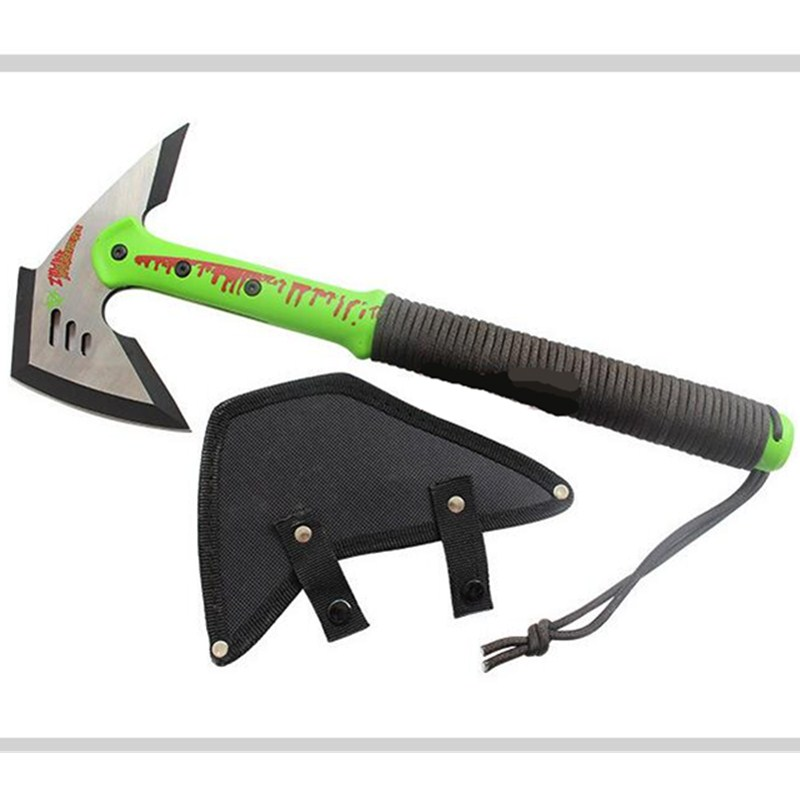 Continental Style Stainless Steel Tactical Tomahawk Outdoor Multi-functional Fire Ax Zombie Preppers Ice Army Rescue Tools L1788 outdoor multifunction camping tools axe aluminum folding tomahawk axe fire fighting rescue survival hatchet