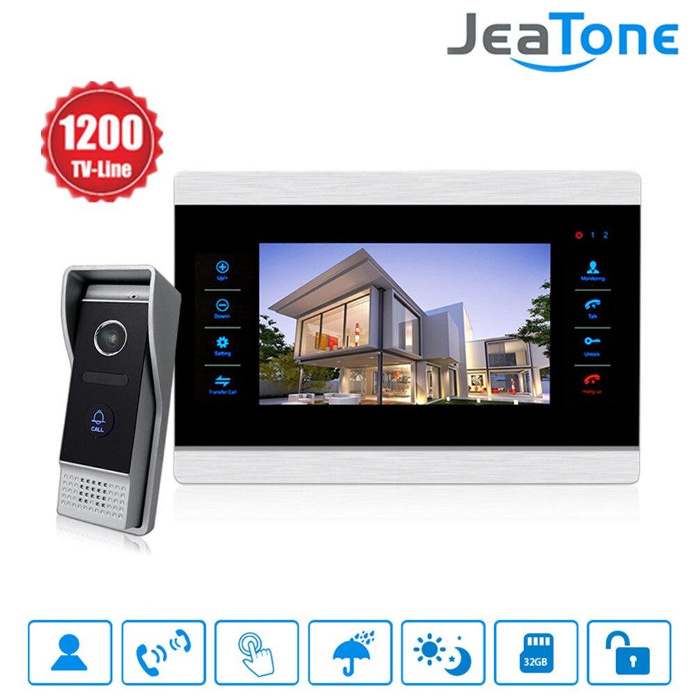Jeatone 10 pouce Couleur Vidéo Sonnette Interphone Moniteur & 1200TVL Panneau Extérieur Porte Téléphone Interphone Système IP65