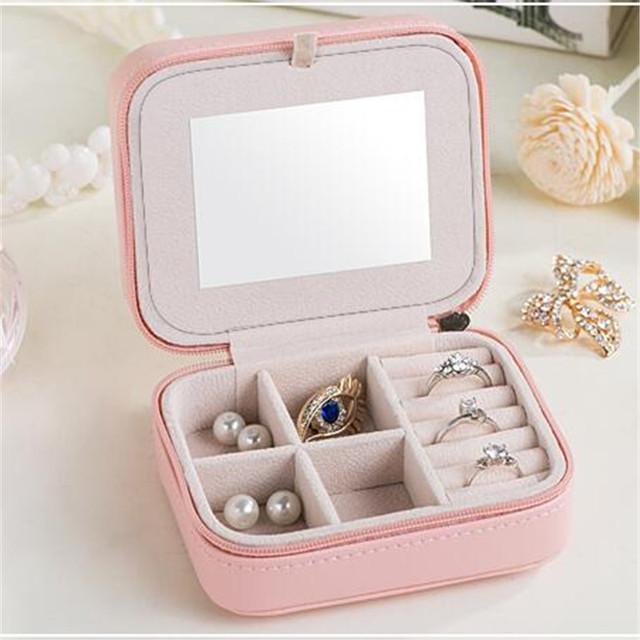 Malá Šperkovnica so zrkadlom 2farby Small Jewelry Box with Mirror 2colors